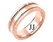 Rose Gold Designer Wedding Band 7mm RG-1584 [RG-1584]