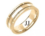 Yellow Gold Designer Wedding Band 7mm YG-1584