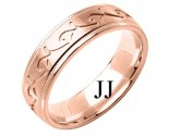 Rose Gold Designer Wedding Band 6mm RG-1585