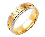 Two Tone Gold Designer Wedding Band 6mm TT-1585