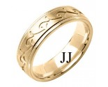Yellow Gold Designer Wedding Band 6mm YG-1585