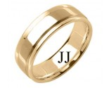 Yellow Gold Designer Wedding Band 7mm YG-1586
