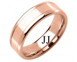 Rose Gold Designer Wedding Band 6.5mm RG-1587