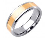 Two Tone Gold Designer Wedding Band 6.5mm TT-1587