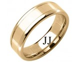 Yellow Gold Designer Wedding Band 6.5mm YG-1587
