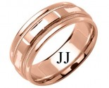 Rose Gold Designer Wedding Band 6.5mm RG-1588