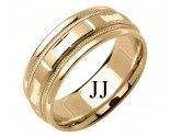 Yellow Gold Designer Wedding Band 6.5mm YG-1588