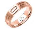 Rose Gold Designer Wedding Band 6mm RG-1589