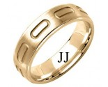 Yellow Gold Designer Wedding Band 6mm YG-1589
