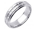 White Gold Designer Wedding Band 6.5gmm WG-1590