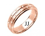 Rose Gold Designer Wedding Band 6.5mm RG-1590