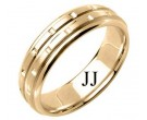 Yellow Gold Designer Wedding Band 6.5mm YG-1590