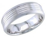 950 Platinum Wedding Band 6-7-8mm - PWB-1651