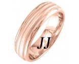 Rose Gold Twin Blade Wedding Band 6.5mm RG-1652