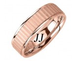 Rose Gold Ribbon Wedding Band 7.0mm RG-1654