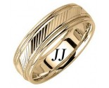 Yellow Gold Slash Cut Wedding Band 6.5mm YG-1659