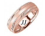 Rose Gold Dual Slash Cut Wedding Band 6.5mm RG-1661