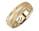 Yellow Gold Dual Slash Wedding Band 6.5mm YG-1661