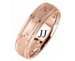 Rose Gold Dot Sandblast Wedding Band 6.5mm RG-1662