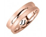 Rose Gold Single Blade Wedding Band 6.5mm RG-1663