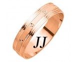 Rose Gold Dot Sandblast Wedding Band 5mm RG-1677