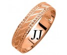 Rose Gold Dot Sandblast Wedding Band 5mm RG-1678