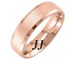 Rose Gold Sandblasted Wedding Band 6.5mm RG-1753
