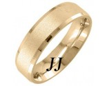 Yellow Gold Sandblasted Wedding Band 6.5mm YG-1753