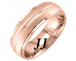 Rose Gold Sandblasted Wedding Band 7mm RG-1755