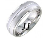 White Gold Sandblasted Wedding Band 7mm WG-1755