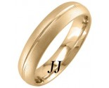 Yellow Gold Sandblasted Wedding Band 5mm YG-1756