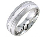 White Gold Sandblasted Wedding Band 7mm WG-1760