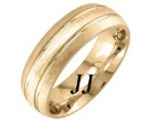 Yellow Gold Sandblasted Wedding Band 7mm YG-1760
