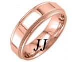 Rose Gold Polished Wedding Band 7mm RG-1761