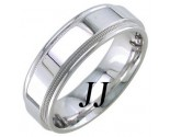 White Gold Polished Wedding Band 7mm WG-1761