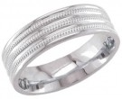 950 Platinum Wedding Band 6-7-8mm - PWB-1763