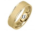 Yellow Gold Sandblasted Wedding Band 6.5mm YG-1852