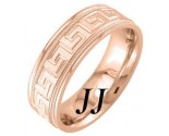 Rose Gold Greek Wedding Band 7mm RG-1853