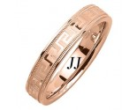 Rose Gold Greek Wedding Band 4.5mm RG-1854