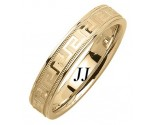 Yellow Gold Greek Wedding Band 4.5mm YG-1854