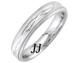 White Gold Interweave Wedding Band 4.5mm WG-1856