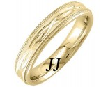 Yellow Gold Interweave Wedding Band 4.5mm YG-1856