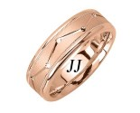 Rose Gold Dot to Dot Wedding Band 7mm RG-1861