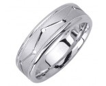 White Gold Dot to Dot Wedding Band 7mm WG-1861
