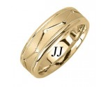 Yellow Gold Dot to Dot Wedding Band 7mm YG-1861