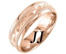 Rose Gold Sandblasted Wedding Band 6mm RG-1862