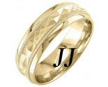 Yellow Gold Sandblasted Wedding Band 6mm YG-1862