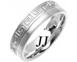 White Gold Greek Wedding Band 6mm WG-1877