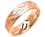 Rose Gold Criss Cross Wedding Band 6mm RG-1878
