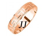 Rose Gold Greek Wedding Band 5mm RG-1879